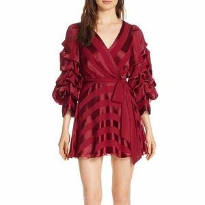 Alice + Olivia Santina Tuck Sleeve MIni Dress